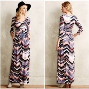 Maeve Novela Chevron Soft Jersey Maxi Dress Size S
